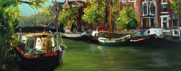Amsterdam Painting - Amsterdam by Cari Humphry