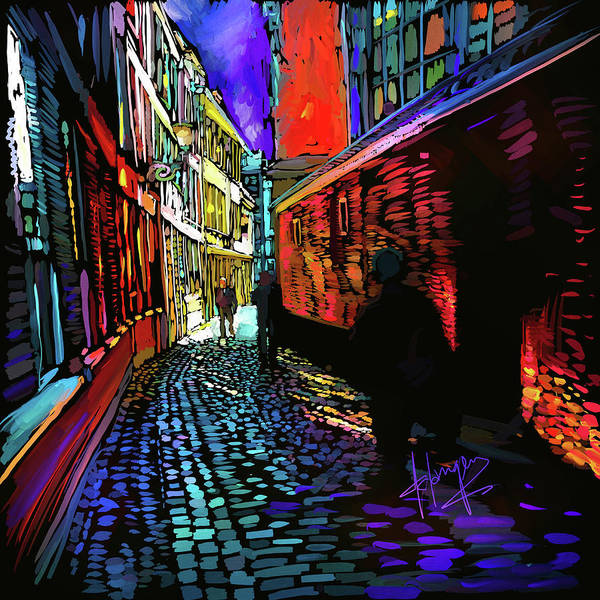 Painting - Amsterdam Cobbletones by DC Langer