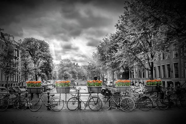Dutch Tulip Photograph - Amsterdam Gentlemens Canal Typical Cityscape by Melanie Viola