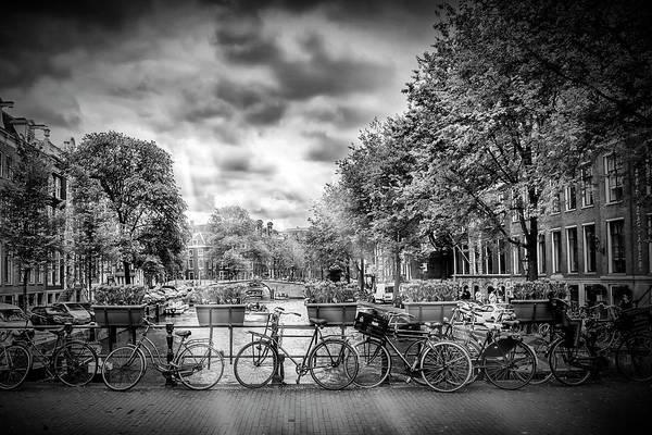Dutch Tulip Photograph - Amsterdam In Monochrome  by Melanie Viola