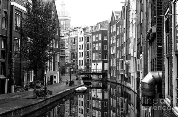 Photograph - Amsterdam Houses Along The Canal 2014 by John Rizzuto