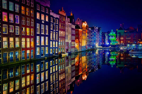 Night Wall Art - Photograph - Amsterdam by Juan Pablo Demiguel