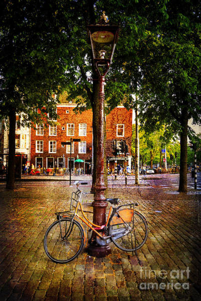 Photograph - Amsterdam Orange Bicycle by Craig J Satterlee