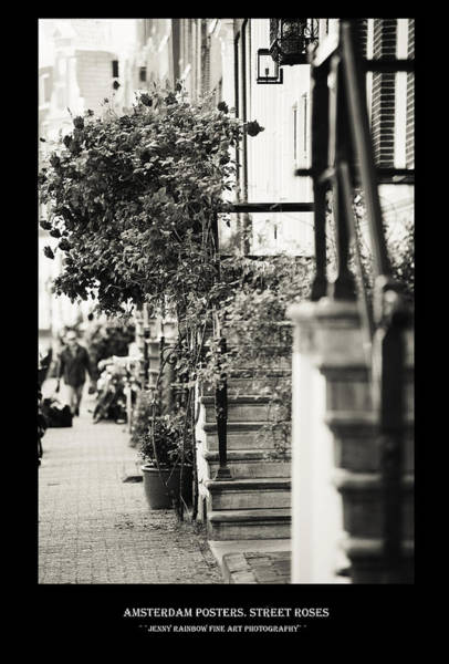 Wall Art - Photograph - Amsterdam Posters. Street Roses by Jenny Rainbow