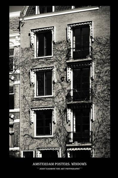 Wall Art - Photograph - Amsterdam Posters. Windows by Jenny Rainbow