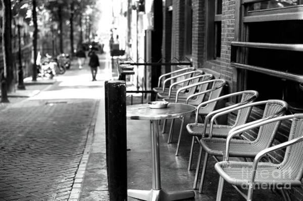 Holland America Line Wall Art - Photograph - Amsterdam Street Lines Mono by John Rizzuto