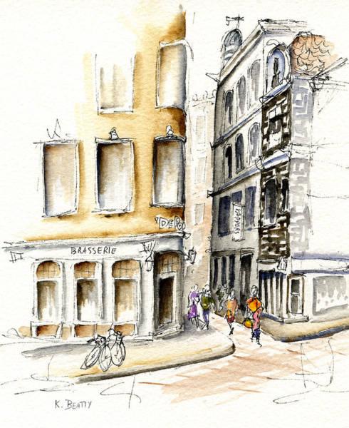 Painting - Amsterdam Street Scene by Karla Beatty