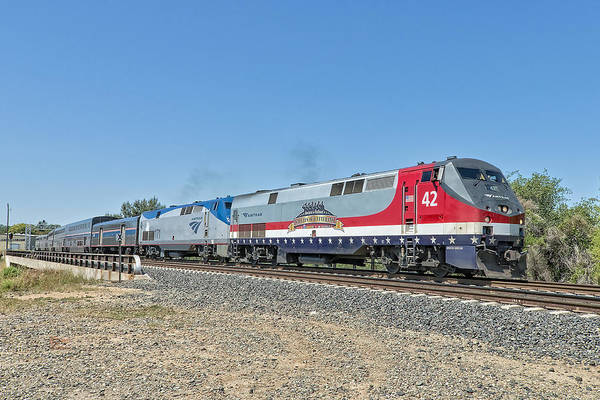 Photograph - Amtrak 42  Veteran's Special by Jim Thompson