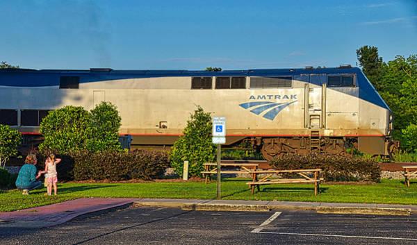 Wall Art - Photograph - Amtrak Engine by Linda Brown