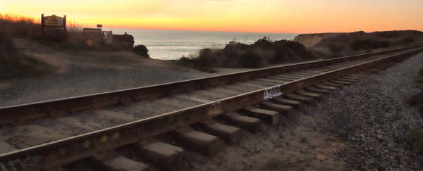 Photograph - Amtrak On The Pacific by Grace Dillon