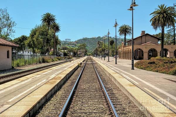 Amtrak Station, Santa Barbara, California Art Print