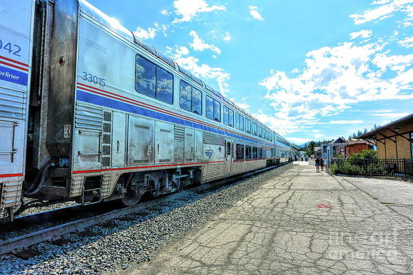 Photograph - Amtrak Station Truckee by Joe Lach