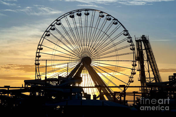 Wall Art - Photograph - Amusement Park Sunset by Anthony Totah