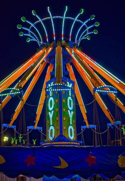 Timonium Wall Art - Photograph - Amusement Ride Lights At Timonium by Doug Swanson