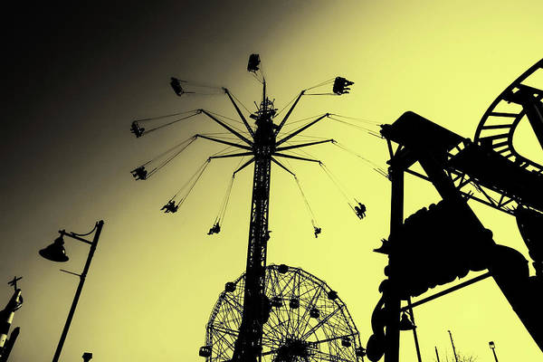 Photograph - Amusements In Silhouette by Cate Franklyn