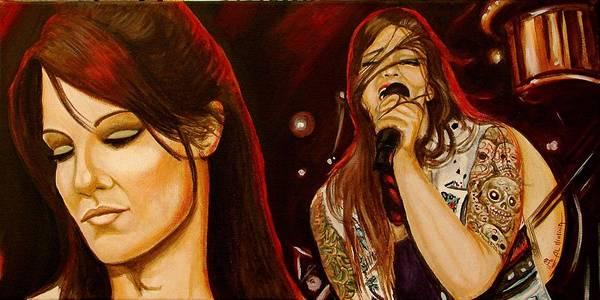 Wwe Wall Art - Painting - Amy Dumas  by Al  Molina