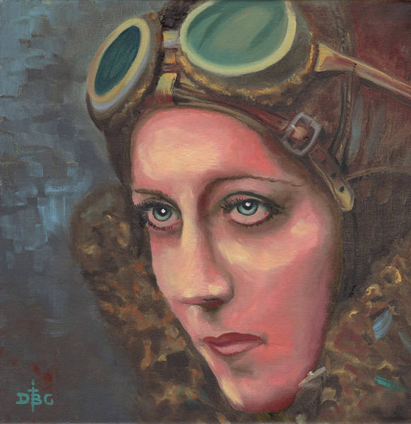 Painting - Amy Johnson by David Bader