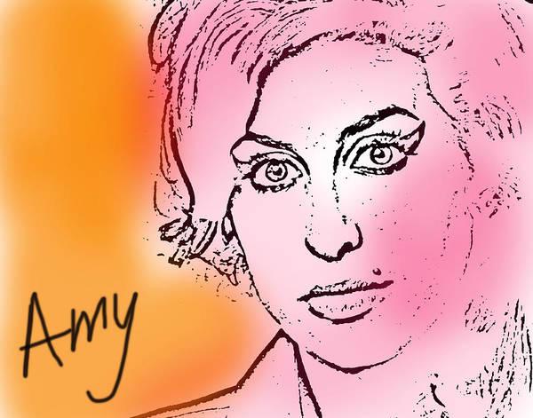 Free Jazz Painting - Amy Pink And Orange by Enki Art