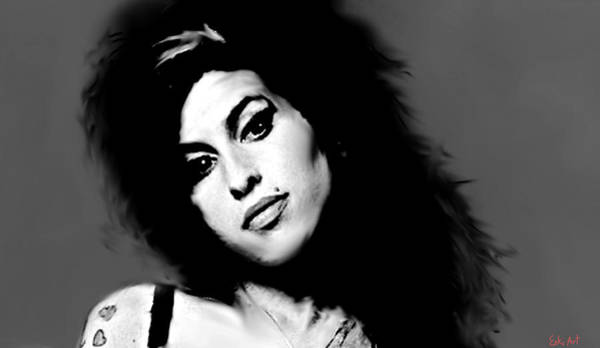 Free Jazz Painting - Amy Winehouse  by Enki Art