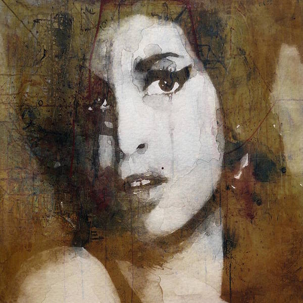 Wall Art - Mixed Media - Amy Winehouse Love Is A Losing Game  by Paul Lovering
