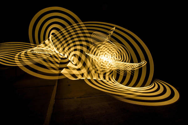 Photograph - An Abstract Yellow Ribbon Of Painted Light by Sven Brogren