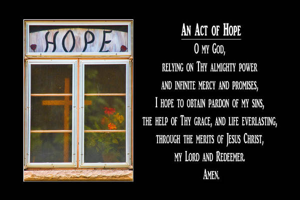 Photograph - An Act Of Hope Prayer by James BO Insogna