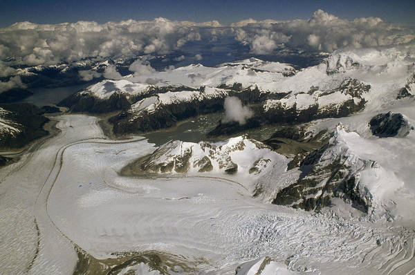 Wall Art - Photograph - An Aerial View Of A Glacier In Tierra by Gordon Wiltsie