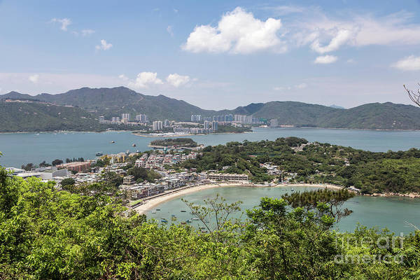 Photograph - An Aerial View Of Peng Chau Island, With Lantau In The Backgroun by Didier Marti