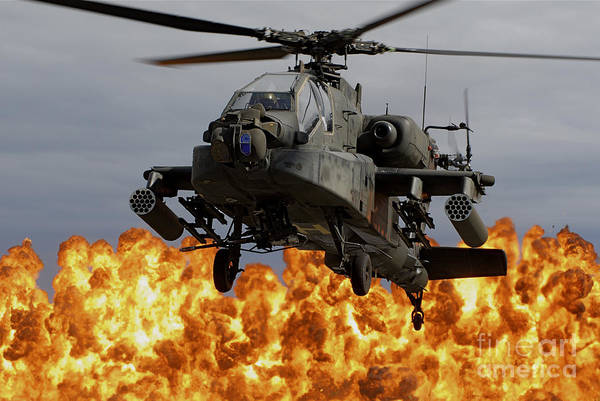 National Guard Photograph - An Ah-64d Apache Longbow by Stocktrek Images