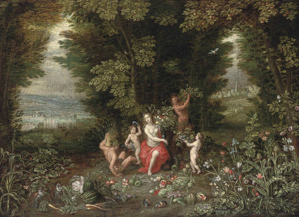 Painting - An Allegory Of Earth by Jan Brueghel the Younger