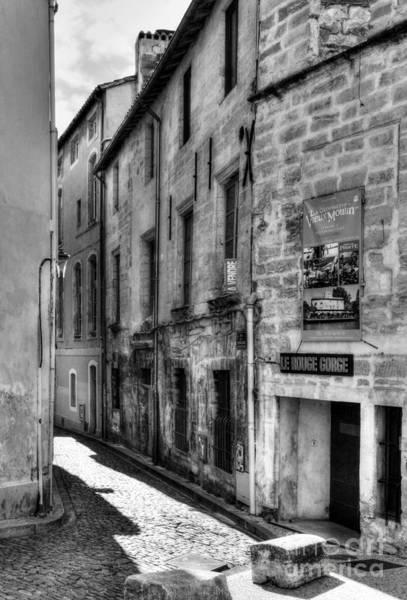 Photograph - An Alley In Avignon 2 Bw by Mel Steinhauer