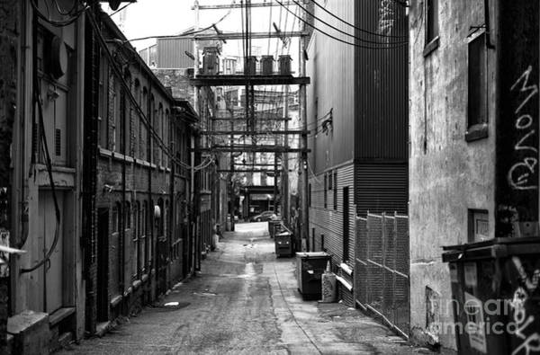 Wall Art - Photograph - An Alley With No Name Mono by John Rizzuto