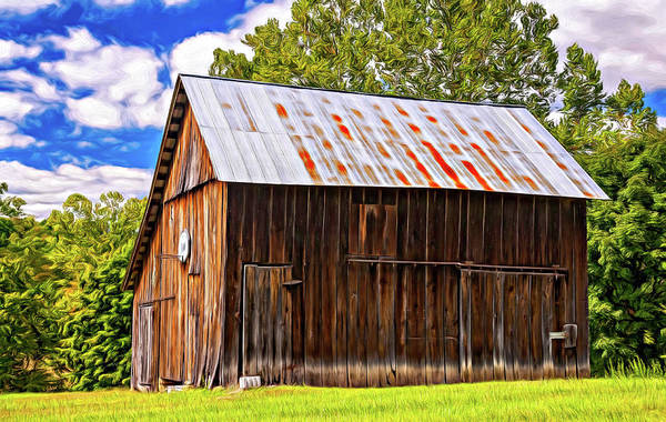 Rood Wall Art - Photograph - An American Barn 2 Painted by Steve Harrington