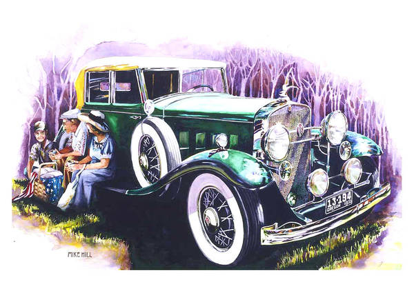 Collector Car Painting - An American Classic by Mike Hill