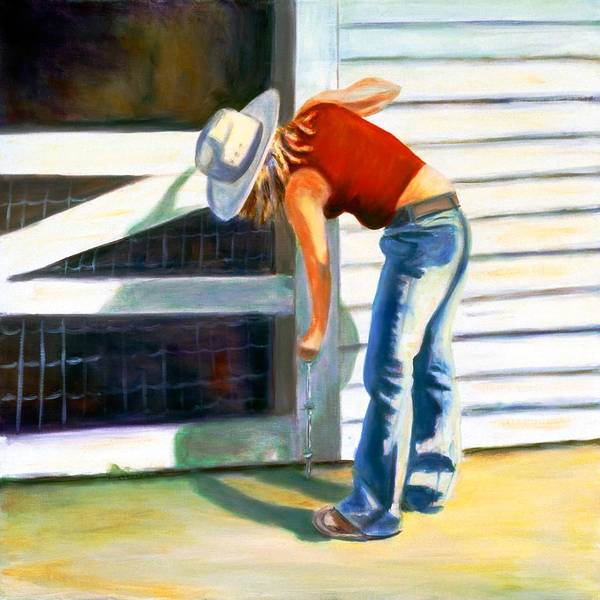 Wall Art - Painting - An American Girl by Shannon Grissom