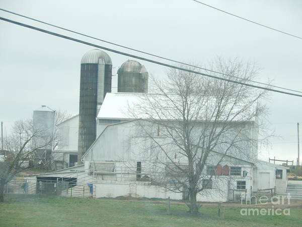 Photograph - An Amish Barn In April by Christine Clark