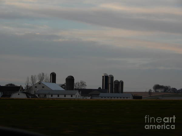 Photograph - An Amish Farm On A Cloudy Day by Christine Clark