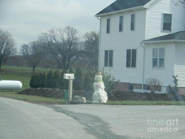 An Amish Snowman Art Print
