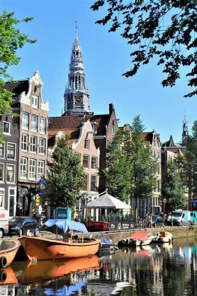 Photograph - An Amsterdam Canal by Kim Bemis