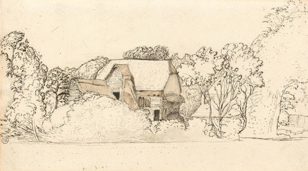 Drawing - An Ancient Barn At Shoreham by Samuel Palmer