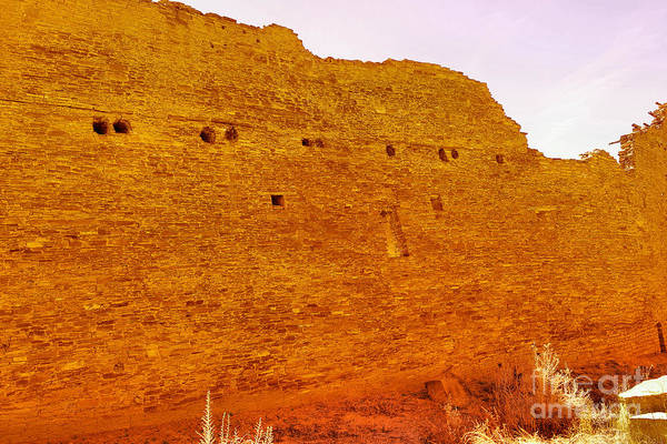 Chaco Canyon Wall Art - Photograph - An Ancient Wall by Jeff Swan