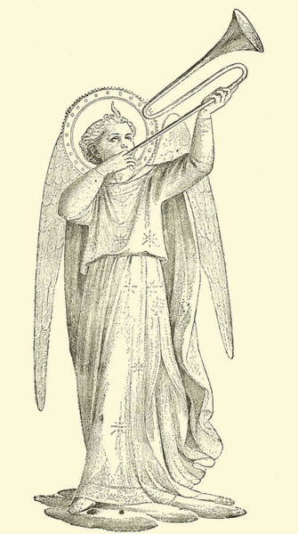 Backdrop Drawing - An Angel by Fra Angelico