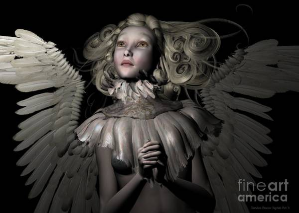 Wall Art - Digital Art - An Angel's Prayer by Sandra Bauser Digital Art