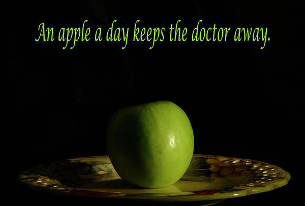 Photograph - An Apple A Day Keeps The Doctor Away  by Angie Tirado