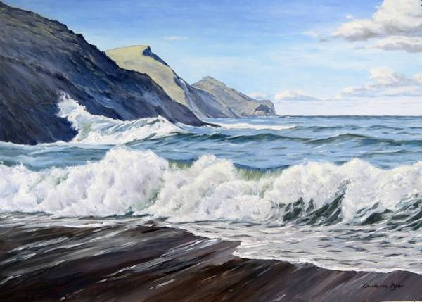 Painting - An April Morning At Crackington Haven by Lawrence Dyer