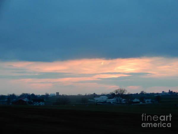 Photograph - An April Sunset Over An Amish Farm by Christine Clark