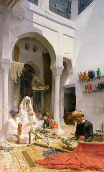 Cotton Painting - An Arab Weaver by Armand Point