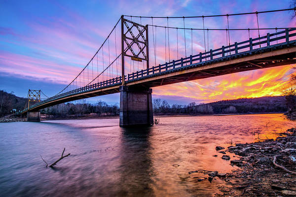 Photograph - An Arkansas Sunset - Beaver Bridge And The White River by Gregory Ballos