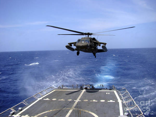 Flight Deck Photograph - An Army Uh-60 Black Hawk Helicopter by Stocktrek Images