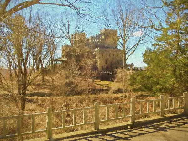 Photograph - An Artistic View Of Gillette Castle. A Connecticut Sate Park. by Rusty R Smith